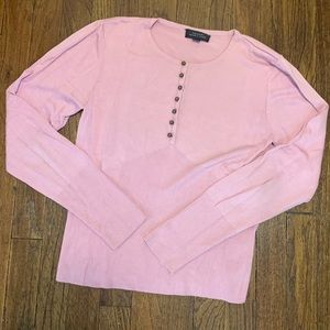 Tahari Sweater with Metal Ball Button Detail